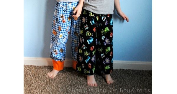 Tutorial: Boys flannel pajama pants