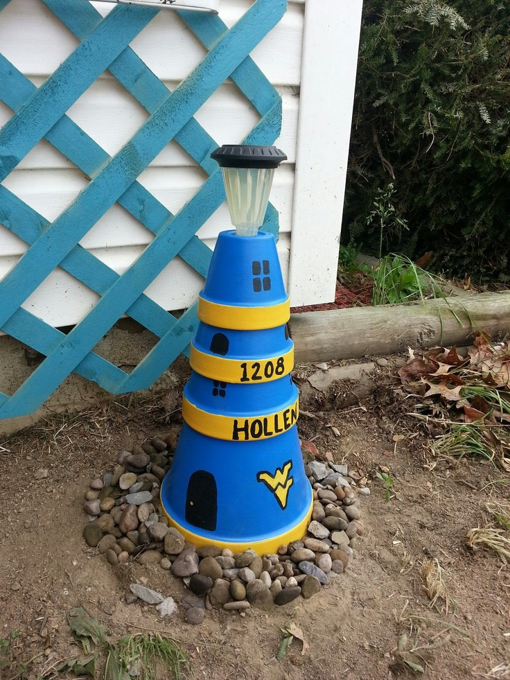Solar Lighthouse Made Out Of Clay Pots Craft Ideas