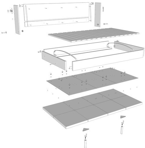 DIY Murphy Bed building instructions! So much better than a futon or hide-a-bed sofa! Out of the way till you need it!