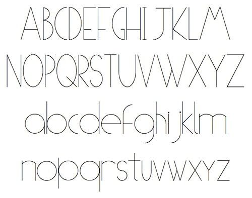 typography fonts alphabet