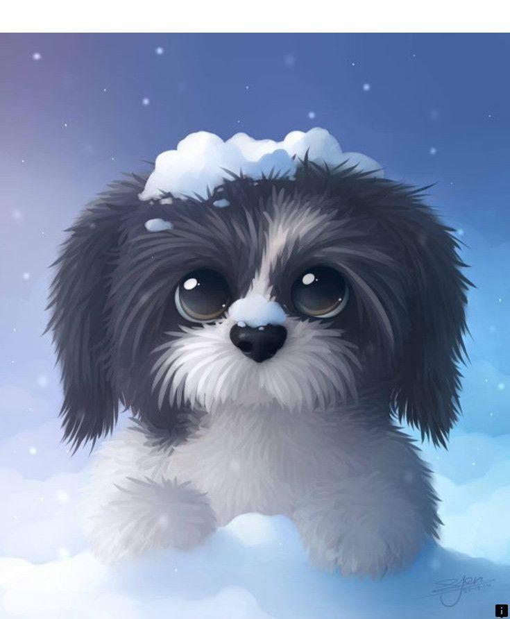 картинки милых мультяшных щенков