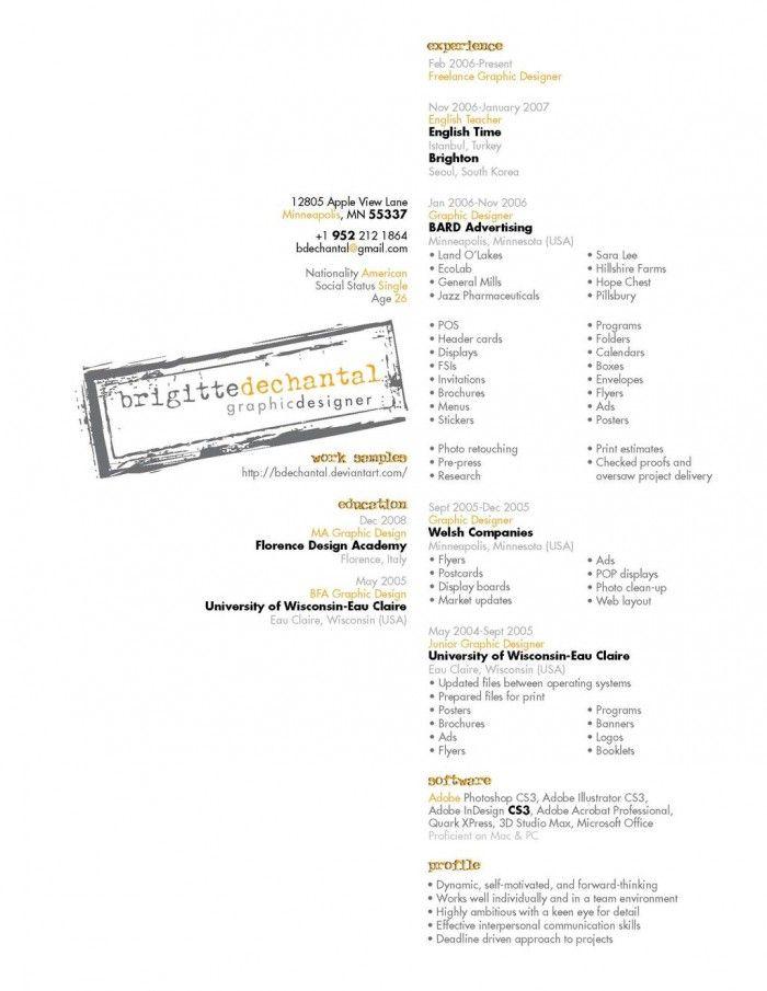 non traditional resume design