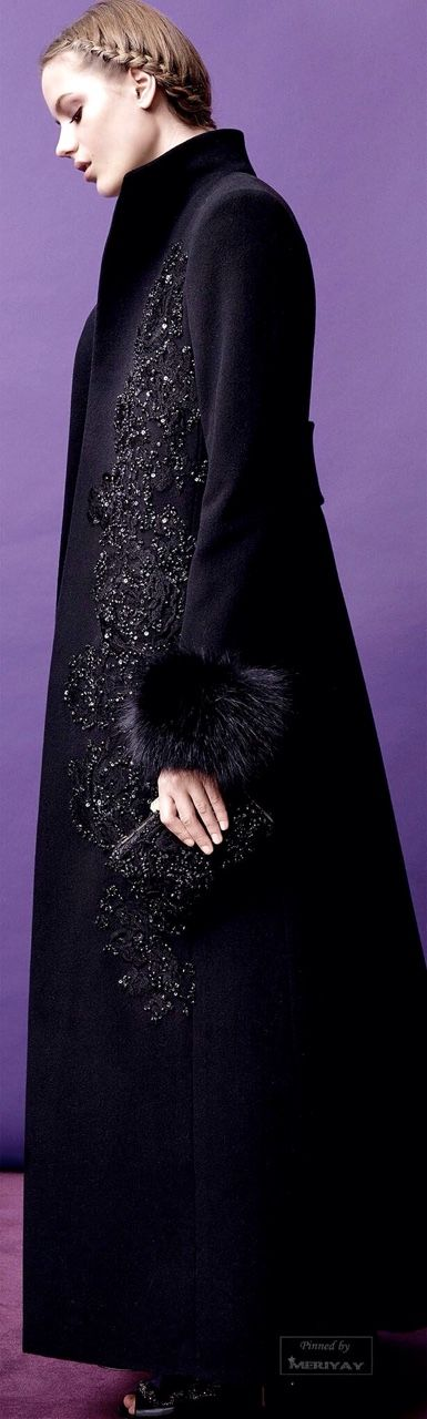 My Style:  Long #coat, Elie Saab PF 2015.