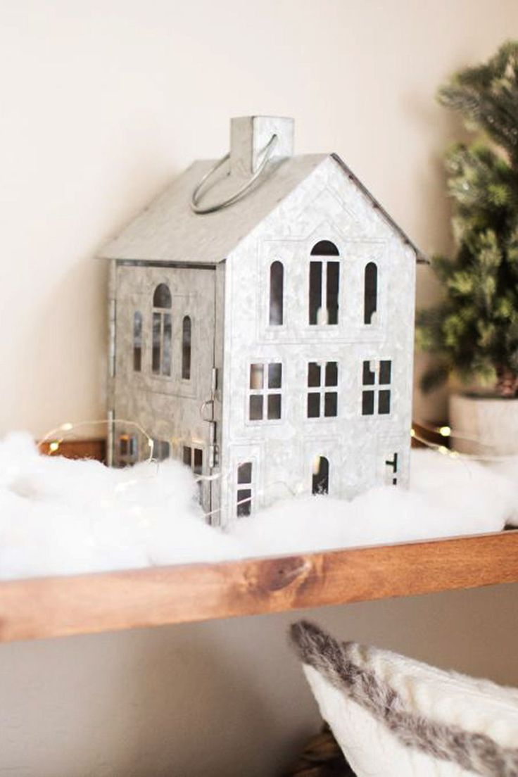 Better Homes Gardens Galvanized House Candle Holder Lantern Walmart Com House Candle Holder Home Candles Diy Holiday Decor