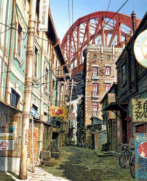 "Tekkon Kinkreet based on the manga series ""Black and White"" by Taiyō Matsumoto."