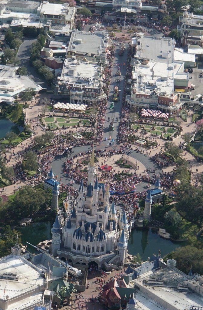 Photos 11 Seldom Seen Aerial Views Of The Magic Kingdom Disney
