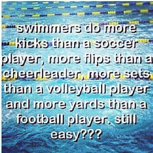 To all those who thing swimming is not a Sport.