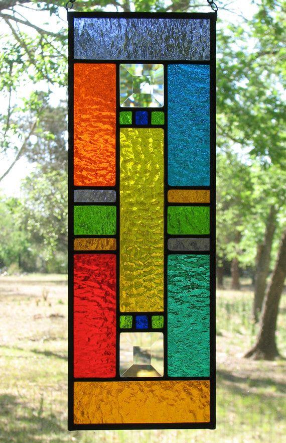 NOUVEAU cirque couleurs vitrail Mini panneau