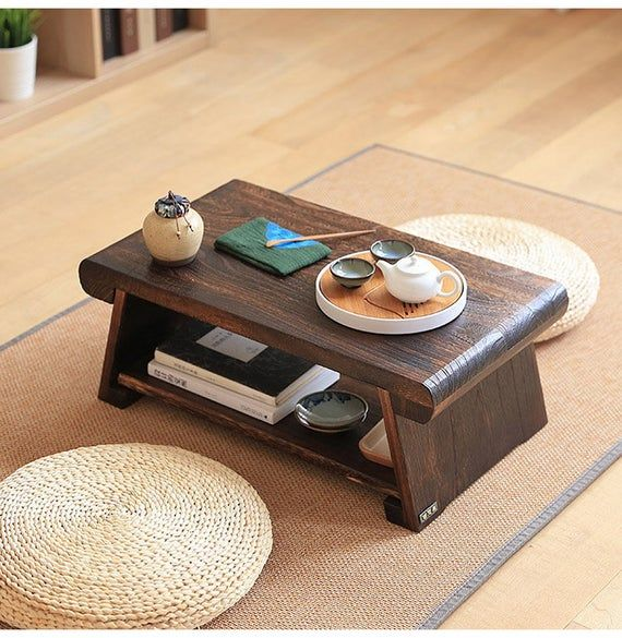 Traditional Japanese Floor Table Coffee Tea Or End Tables In 2020