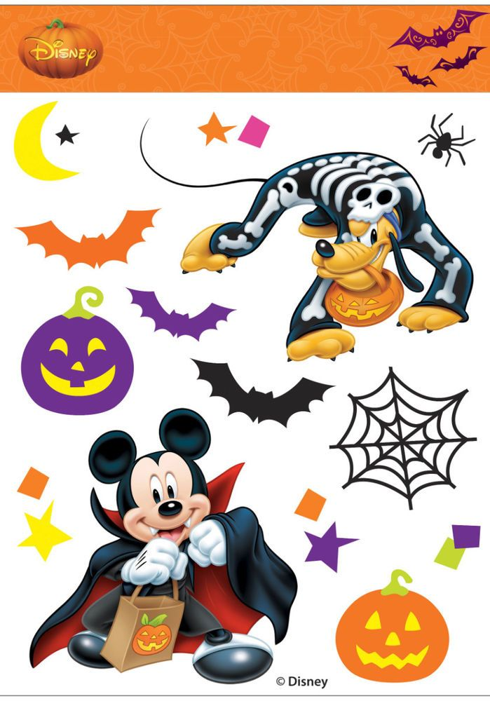 mickey mouse vampire pluto window clings halloween decoration new disney - Window Clings Halloween