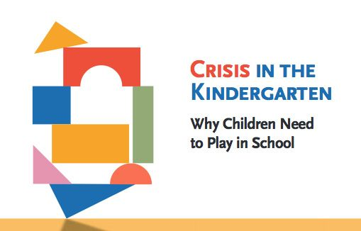 Crisis in the Kindergarten:  Why Children Need to Play in School.  This is a free downloadable research based article on the importance of play in education.