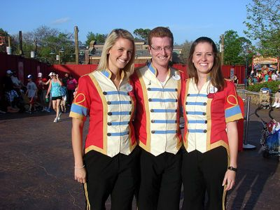 Storybook Circus cast members ring-leader outfits.