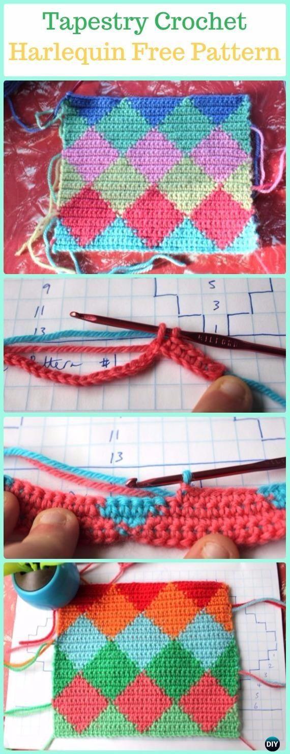 Tapestry Crochet Harlequin Free Pattern -Tapestry Crochet Free Patterns