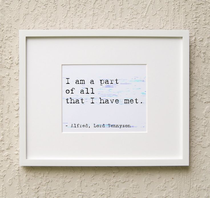 Inspirational Art Quote - Alfred Lord Tennyson Quote - Instant Art - Downloadable by MinimalDigital on Etsy