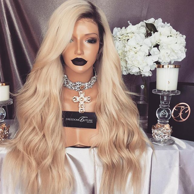 KYE.BLONDE. This unit is perfect for my Bellas who have natural dark hair because the roots on this unit are dark. It will allow you to use some of your real baby hairs to make the wig look more natural Available to be yours tomorrow