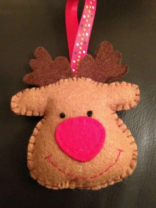Rudolf ornament Crafts, Christmas ornaments, Novelty