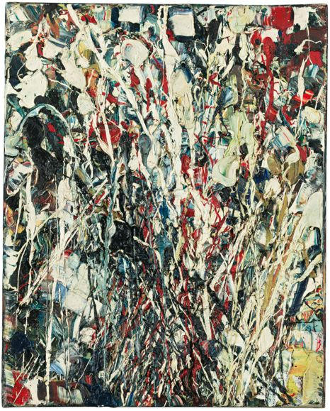Jean-Paul Riopelle (1923-2002), 1950, 'Composition', oil on canvas. Follow the biggest painting board on Pinterest www.pinterest.com/atelierbeauvoir
