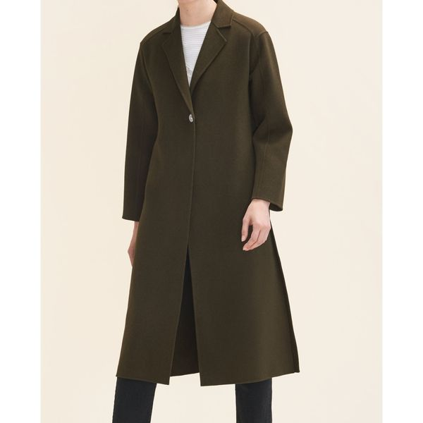 --evaChic-- This Maje Galib Double-Face Belted Long Wool Coat is a classic outerwear piece refreshed with silver-tone snap closures. The roomy silhouette is adjusted to your waistline with a detachable self-tie belt. It works as a chic layering piece and a winter wardrobe investment.       https://www.evachic.com/product/maje-galib-double-face-belted-long-wool-coat/