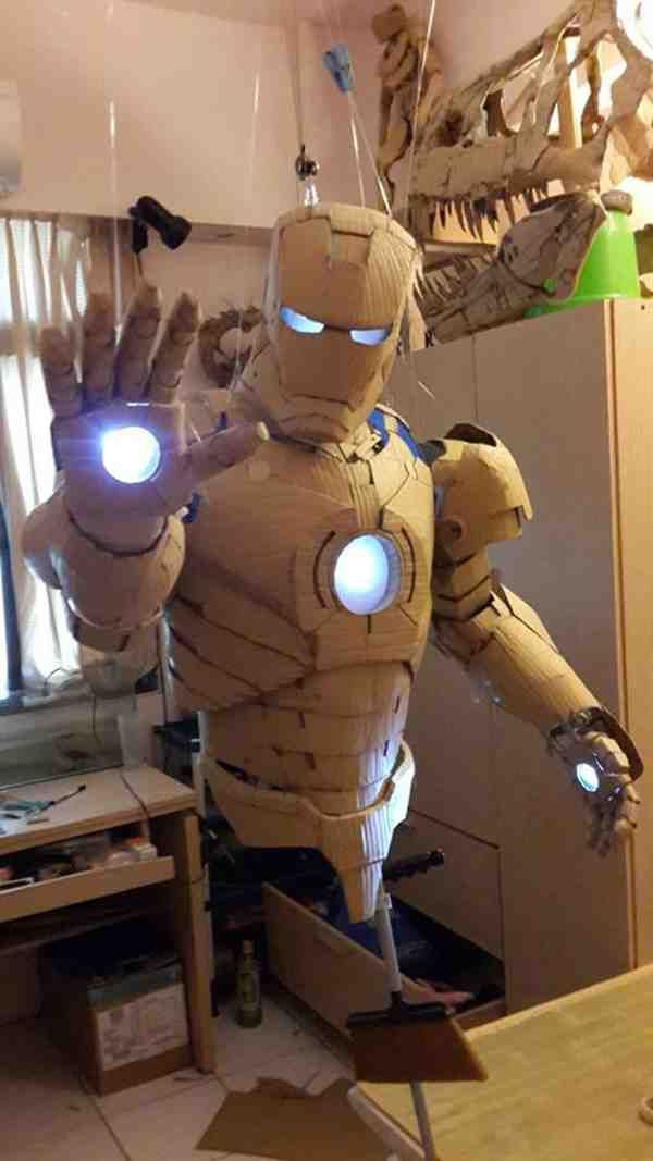 Iron Man suit out of cardboard!