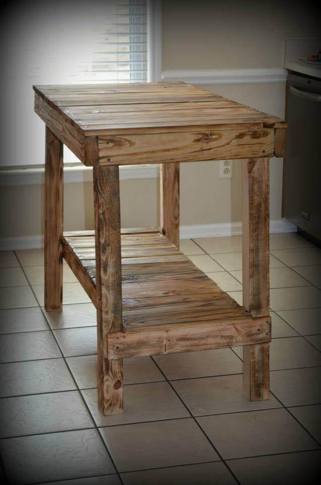 Pallet Kitchen Island - Console Table furniture Pallet, Pallet