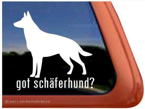 German Shepard Large vinyl car Decal Sticker