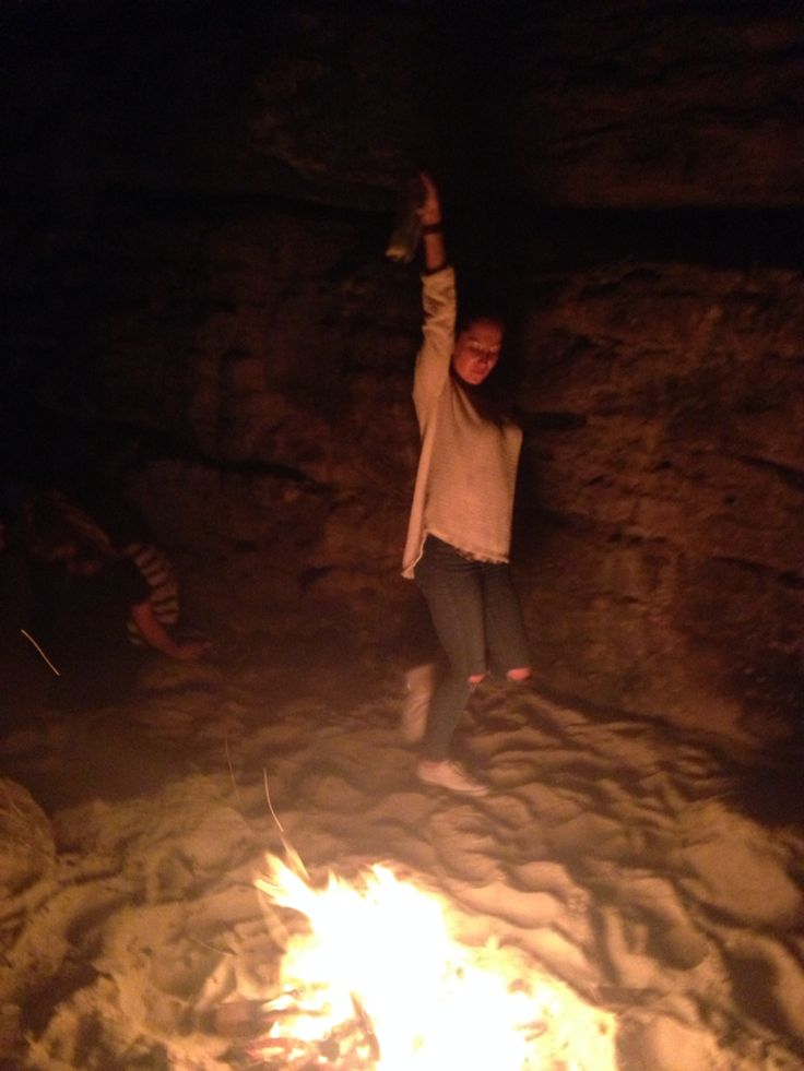 Horsing around in a cave lol