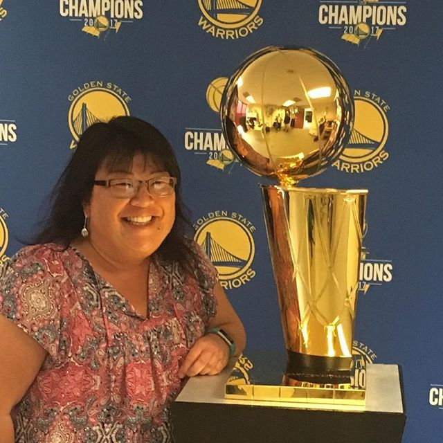 Woo hoo! I didn't dare touch it. Golden State Warriors basketball camp at #csumb #dubnation #nbachampions2017 #montereylocals #csumblocals - posted by Lianne https://www.instagram.com/dmbdreamgirl - See more of CSUMB in Monterey, CA at http://csumblocals.com