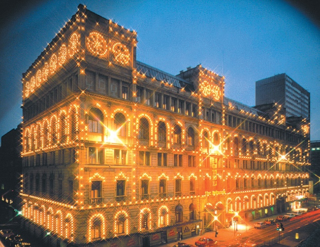 The glittering lights at Britannia Hotel Manchester, available from Superbreak.com