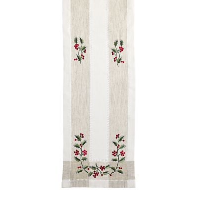 Vintage Holly Table Runner 34 x 228cm £20
