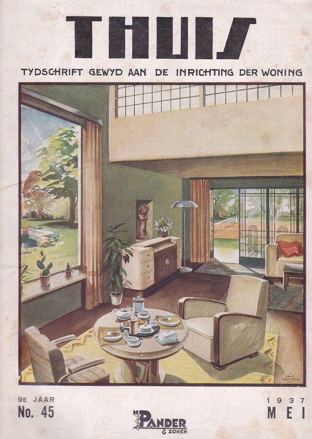 """tijdschrift """"Thuis"""" 1937 firma Pander"""