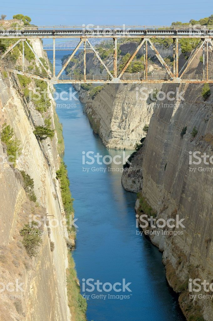 Corinth Canal - Greece royalty-free stock photo