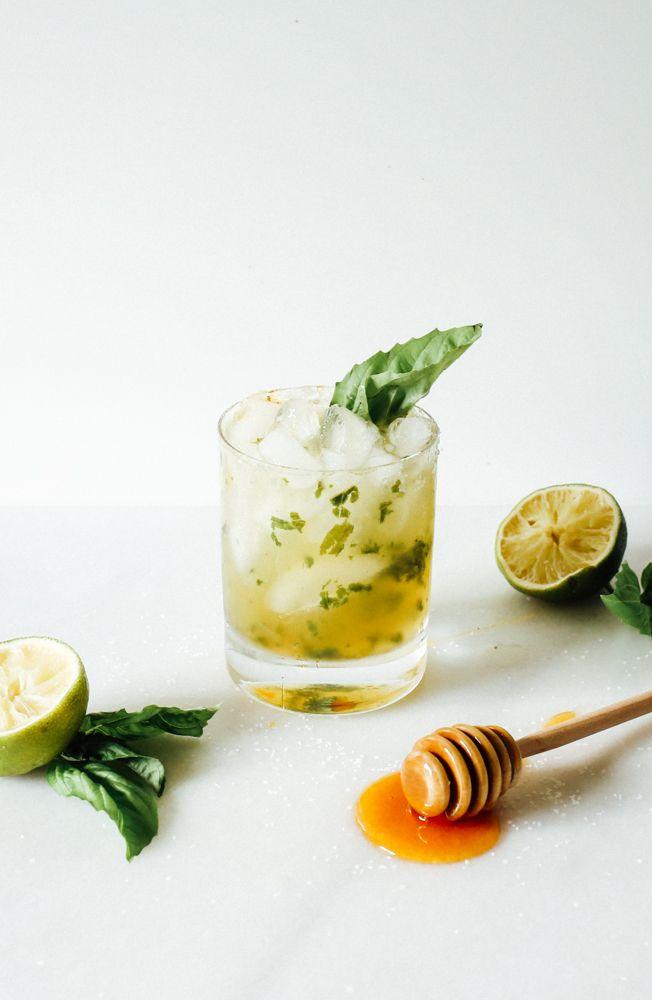 Honey Basil Margaritas - Wood