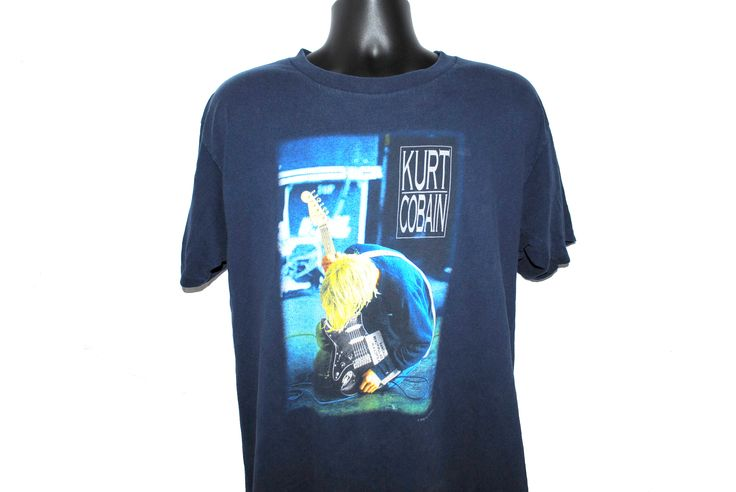 2000 Nirvana Vintage Classic Kurt Cobain Photo Lithium Music Video Rare Grunge Icon T-Shirt