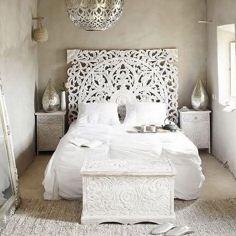 White Moroccan Home Decor Wood Panel