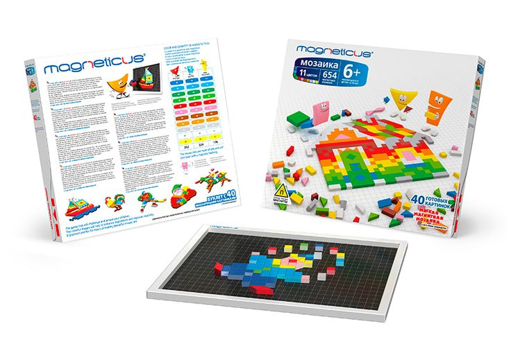 Soft Magnetic Mosaic (654 elements) 6+ Give your child the opportunity to express himself!