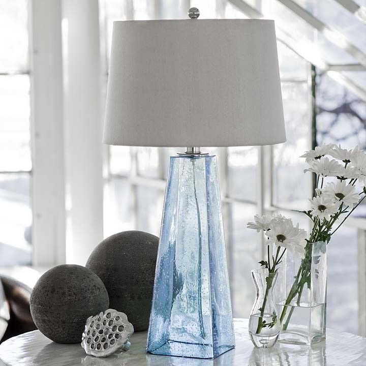 Baha Blue Glass Lamp from Regina Andrew.
