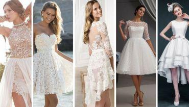 Vestidos de Noiva Curtos: Modelos e Dicas para Usar