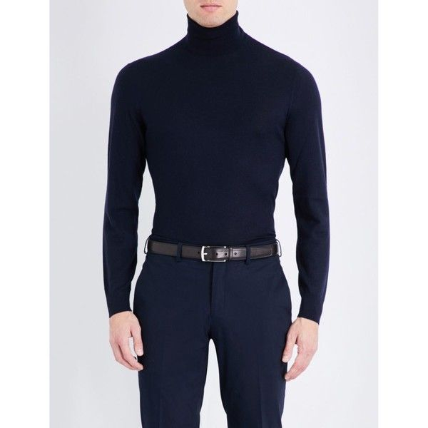 Ralph Lauren Purple Label Turtleneck cashmere jumper ($755) ❤ liked on Polyvore featuring men's fashion, men's clothing, men's sweaters, mens purple ties, mens cashmere turtleneck sweaters, mens sweaters, mens cashmere sweaters and american eagle mens sweaters