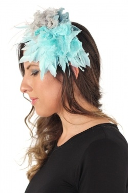 Malababa Galia Hairband Fascinator in Turquesa