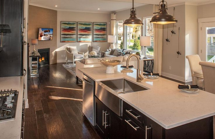 Kitchen And Family Room The Belleville Floor Plan Drees