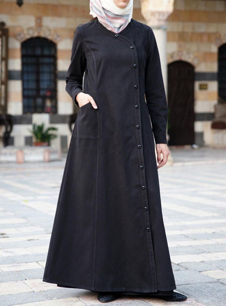 Love the Buttons on this Comfortable Jilbab from www.shukrclothing.com