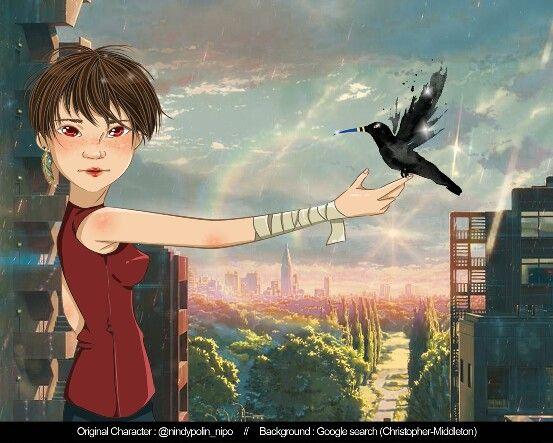 Crow girl Ig @nindypolin_nipo