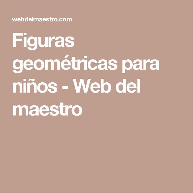 Figuras geométricas para niños - Web del maestro