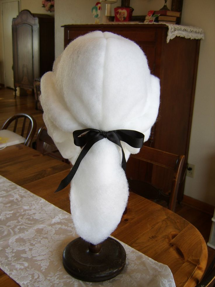 George Washington wig, not made with cotton balls!
