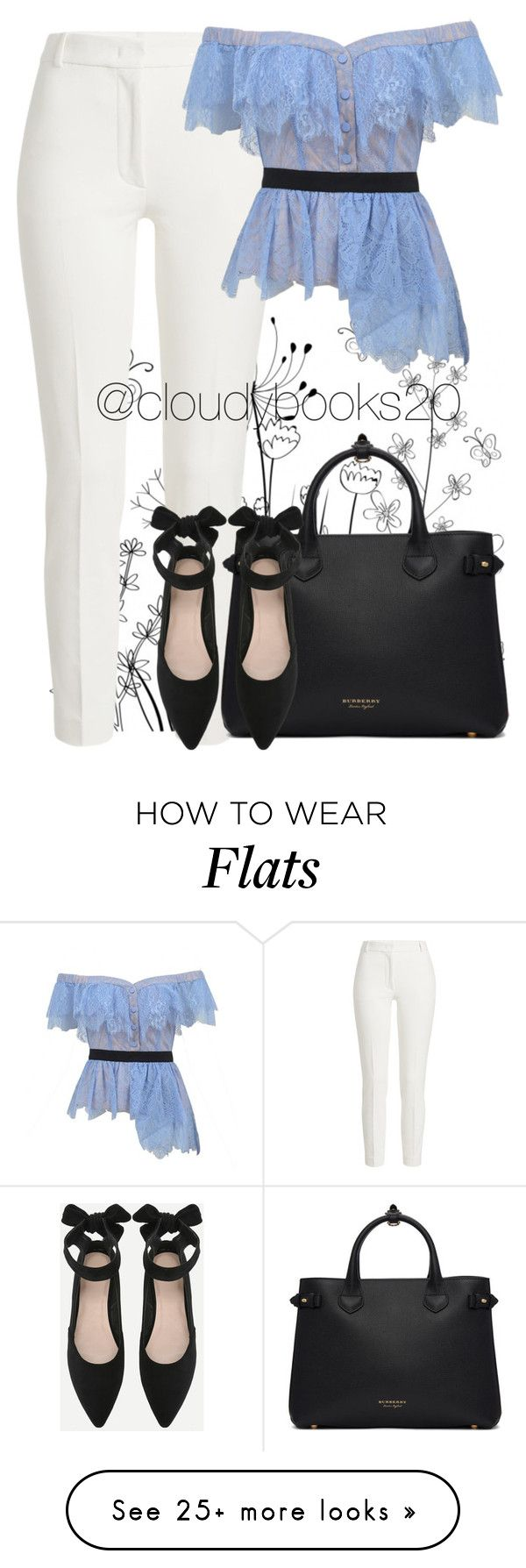 """""""Semi Casual Day"""" by cloudybooks on Polyvore featuring Joseph, self-portrait and Burberry"""