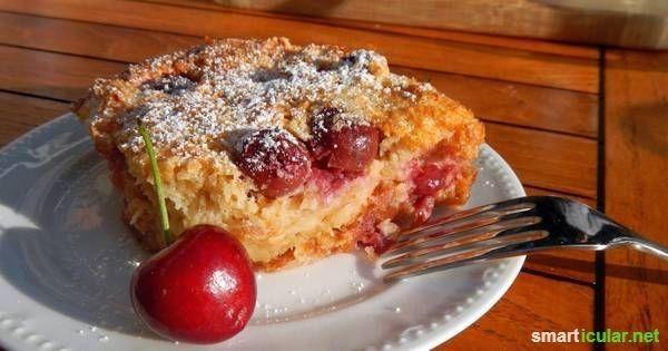 Leckere Resteverwertung für altes Brot: Obst- und Kirschmichel