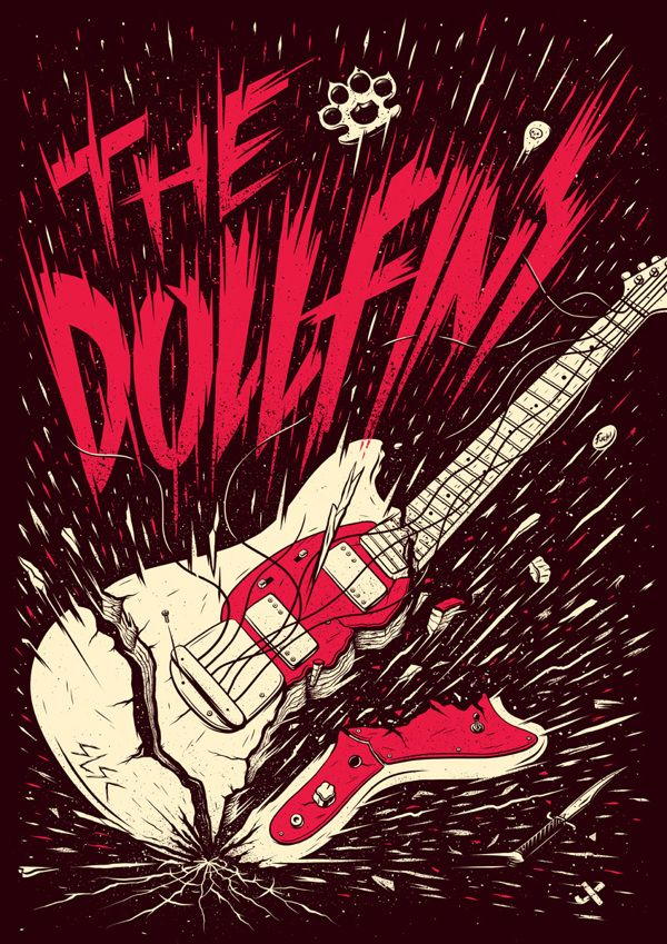 The Dollfins poster by Ian Jepson