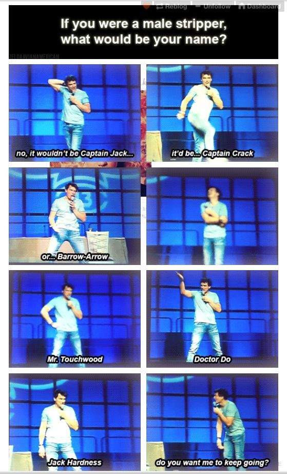 I laughed my butt off when he riffed on this! Barrowman is hilarious!!!