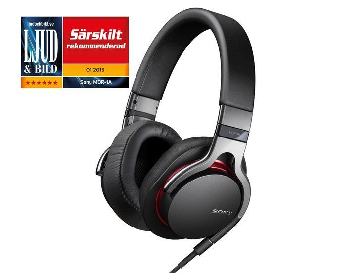 Sony MDR-1A Headphones Fullsize Mic Svart - Elektronikk