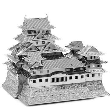 Aipin DIY 3D Puzzle Stainless Steel Model Kit Himeji Castle Silver Color Sale - Banggood.com